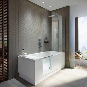 Duravits Shower + Bath en walk-in-shower